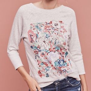 ANTHROPOLOGY Paint By Numbers Sweatshirt - Sz M